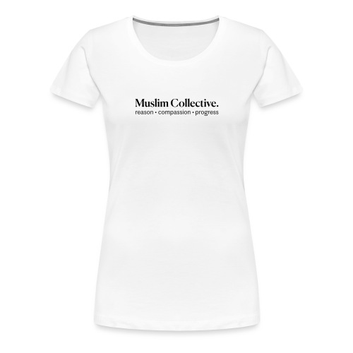 Muslim Collective Logo + tagline - Women's Premium T-Shirt