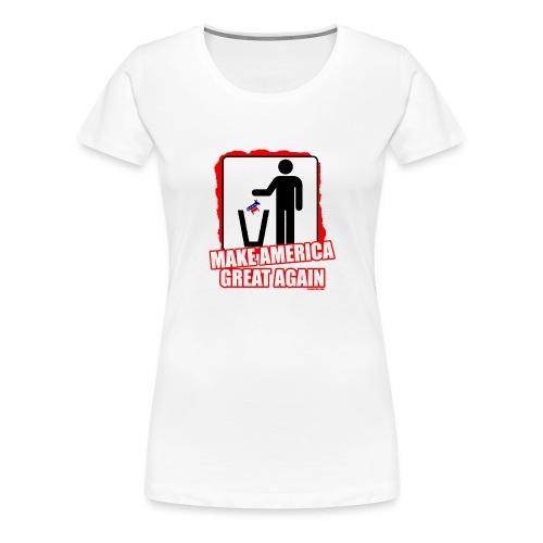 MAGA TRASH DEMS - Women's Premium T-Shirt