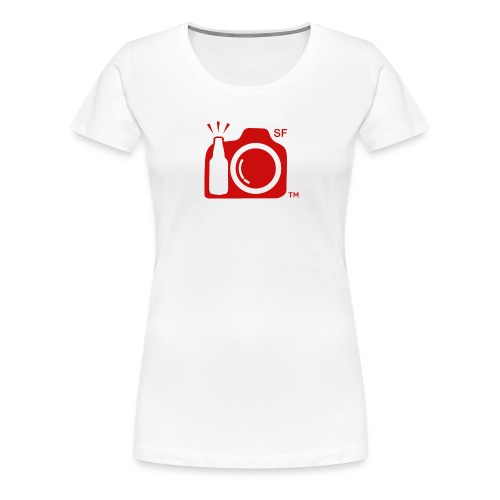 San Francisco Transparent With Initials RED png - Women's Premium T-Shirt