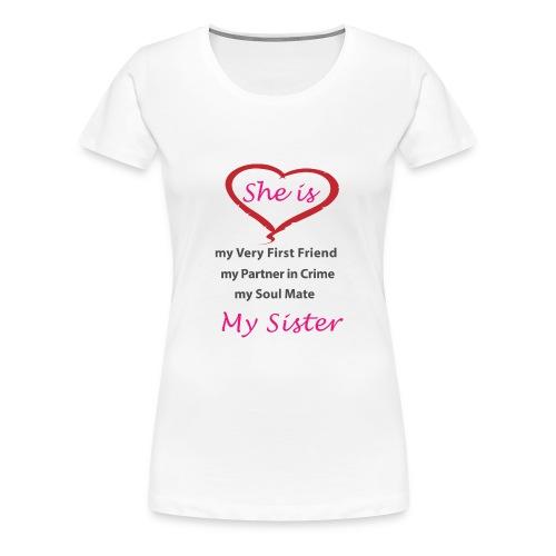 sister png - Women's Premium T-Shirt