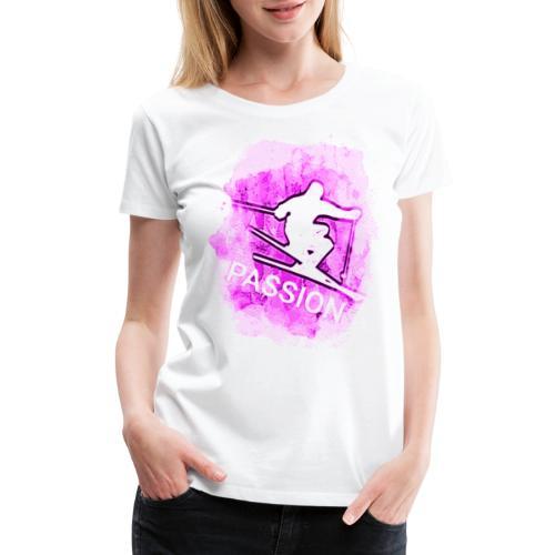 Pink Passion Winter Sport Skiing Schifahren 2rebor - Women's Premium T-Shirt