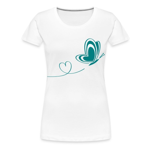 butterfly love heart wings insect - Women's Premium T-Shirt