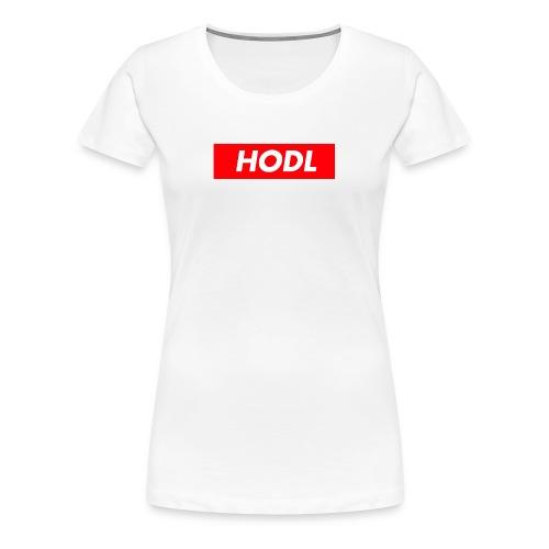 Hodl BoxLogo - Women's Premium T-Shirt