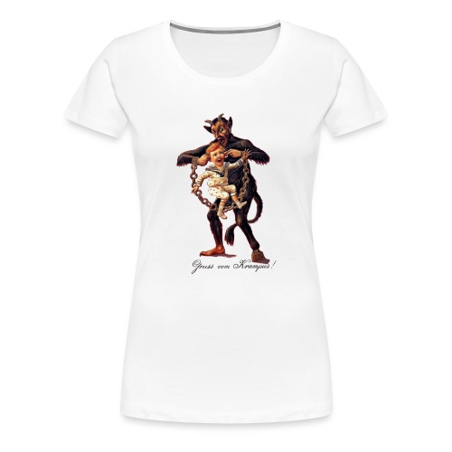 Gruss vom (Greetings From) Krampus - Women's Premium T-Shirt