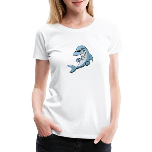 Dolphin Cartoon - Women's Premium T-Shirt