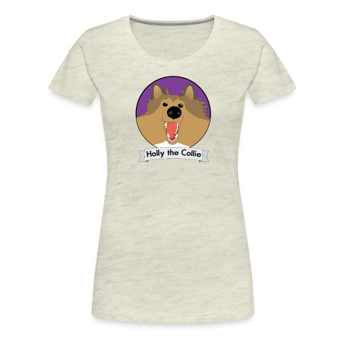 Holly the Collie banner - Women's Premium T-Shirt