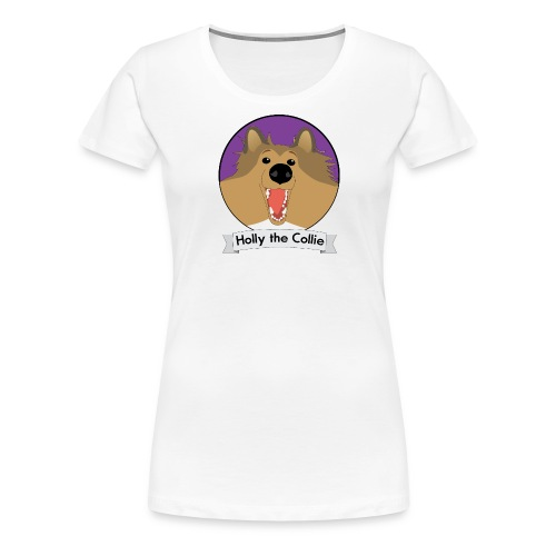 Holly the Collie banner - Women's Premium T-Shirt