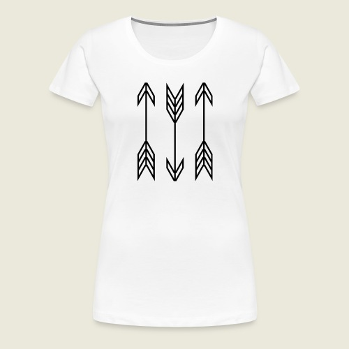arrow symbols - Women's Premium T-Shirt