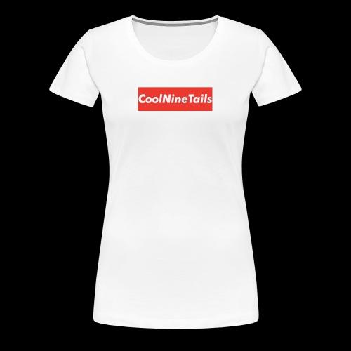 CoolNineTails supreme logo - Women's Premium T-Shirt