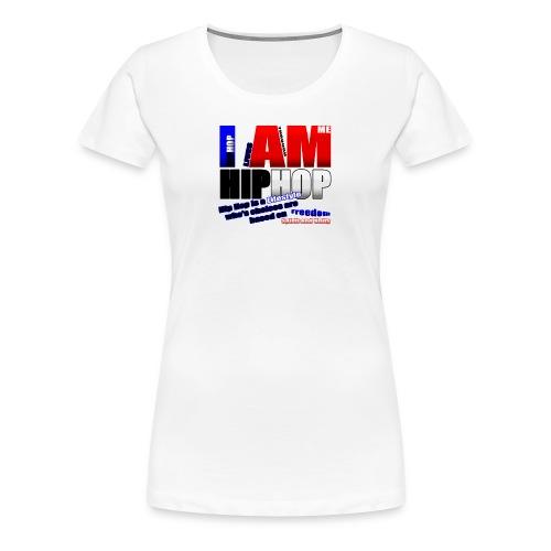 blueredhiphoptee - Women's Premium T-Shirt
