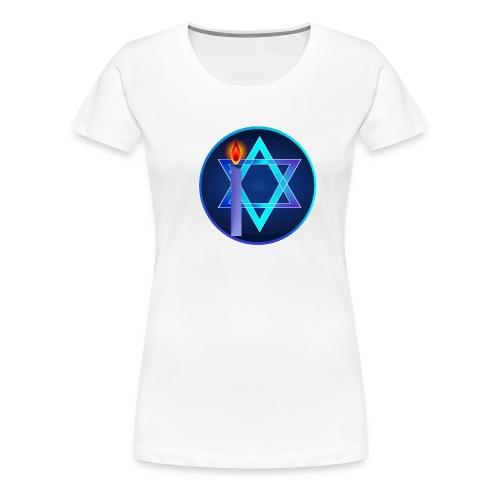 Star Of David and Light - Women's Premium T-Shirt