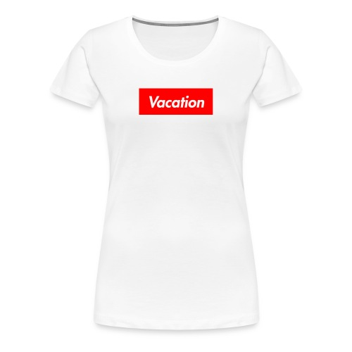 TheVacation (Supreme logo) - Women's Premium T-Shirt