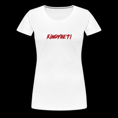 Red KingYheti Logo - Women's Premium T-Shirt