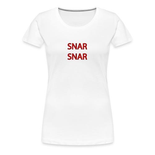 snar snar - Women's Premium T-Shirt