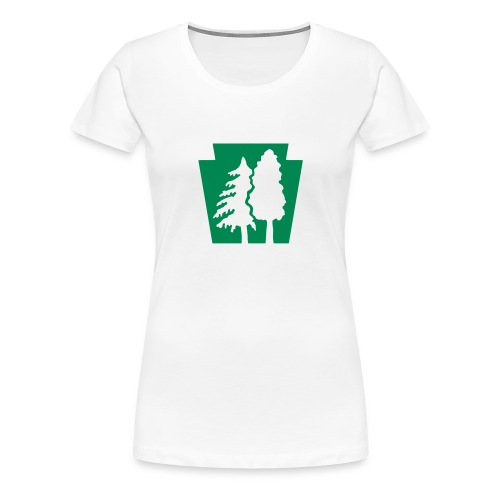 PA Keystone w/trees - Women's Premium T-Shirt