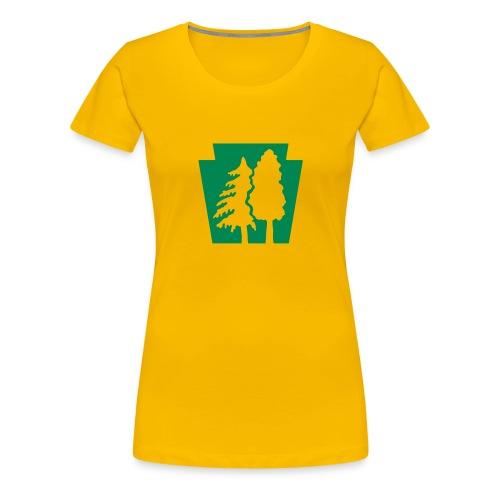 PA Keystone w/trees - Women's Premium T-Shirt