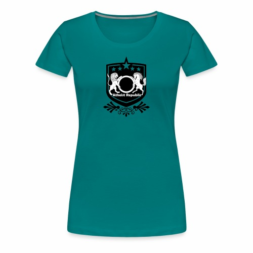 Atheist Republic Logo - Starred Badge - Women's Premium T-Shirt