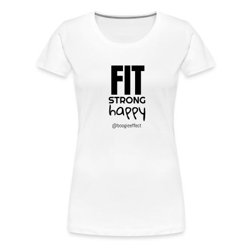 fit strong happy black - Women's Premium T-Shirt