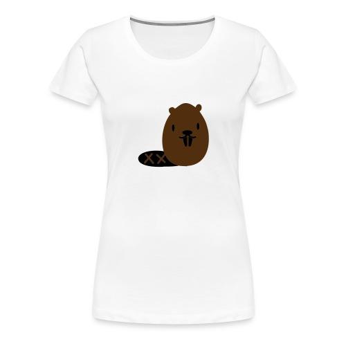 Cute Beaver - Women's Premium T-Shirt