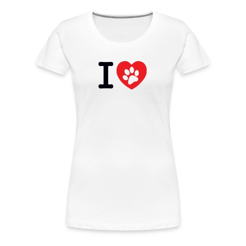 I LOVE DOG - Women's Premium T-Shirt
