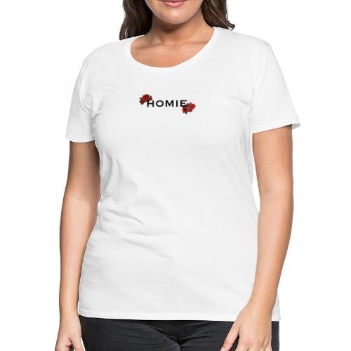 HOMIE ROSE BLKFONT - Women's Premium T-Shirt