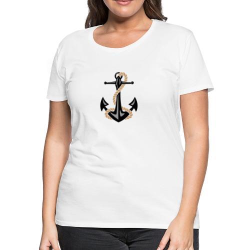 Classic Nautical Anchor and Rope Design - Women's Premium T-Shirt