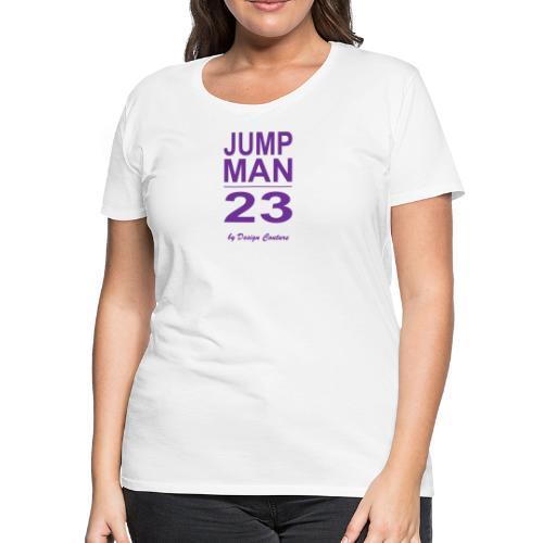 JUMP MAN 23 PURPLE - Women's Premium T-Shirt