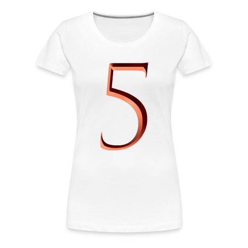 5, number five - Women's Premium T-Shirt