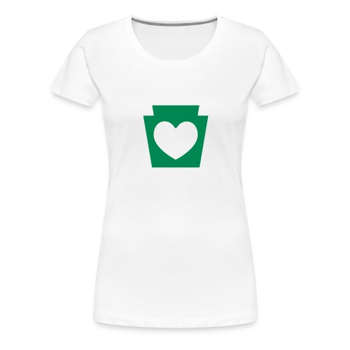 Love/Heart PA Keystone - Women's Premium T-Shirt