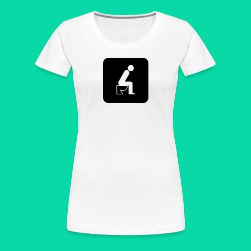 On The Toilet - Women's Premium T-Shirt