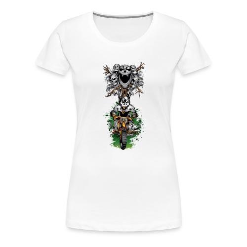 Skull Tree Halloween - Women's Premium T-Shirt