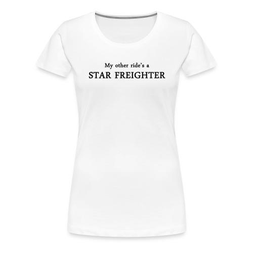 StarFreighter-BLACK - Women's Premium T-Shirt