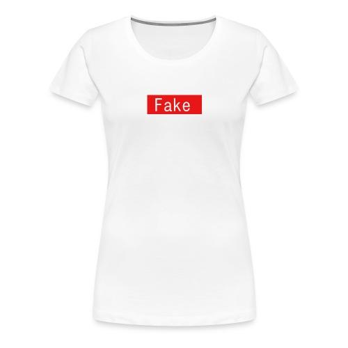 Fake By Clean Finish - Women's Premium T-Shirt