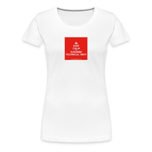 KeepCalm red and white edition - Women's Premium T-Shirt