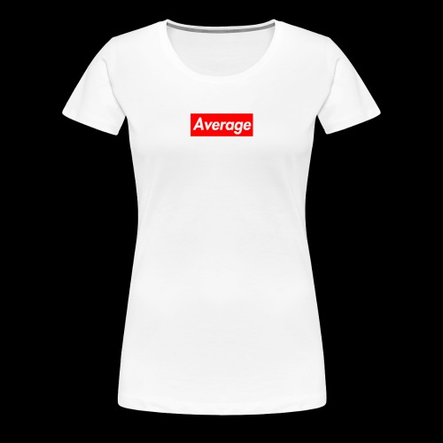 Average Supreme Logo Mockup - Women's Premium T-Shirt