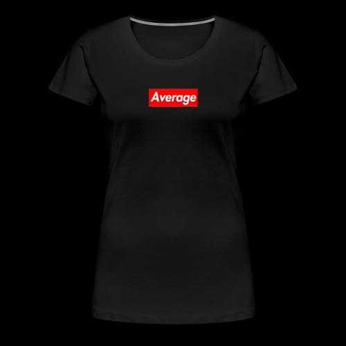 Average Supreme Logo Mockup - Women's Premium T-Shirt