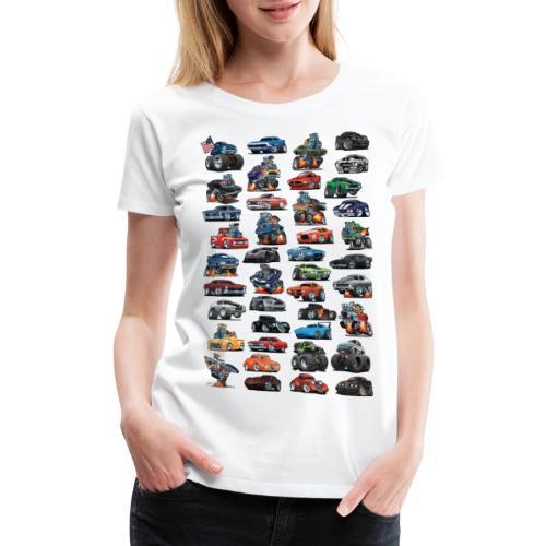 American Hot Rods, Muscle Cars, Pickup Trucks - Women's Premium T-Shirt