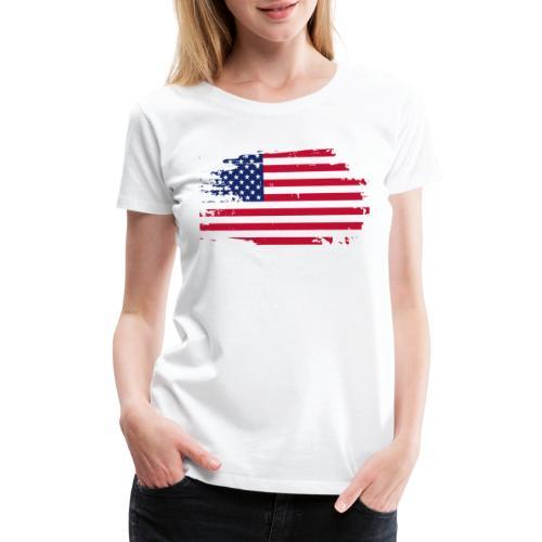 usa america american flag - Women's Premium T-Shirt
