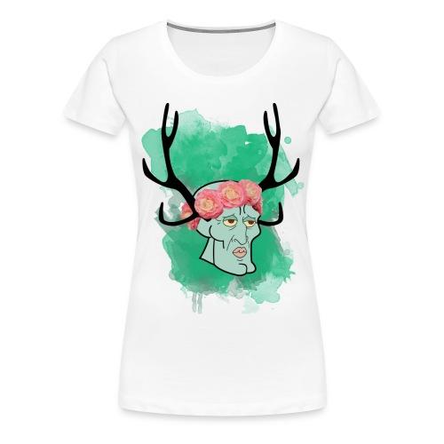 handsome squidward png - Women's Premium T-Shirt