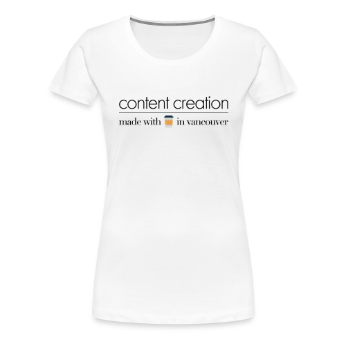 contente creation png - Women's Premium T-Shirt