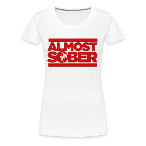ALMOST SOBER stripper pole png - Women's Premium T-Shirt