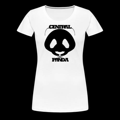 Central Panda in White - Women's Premium T-Shirt