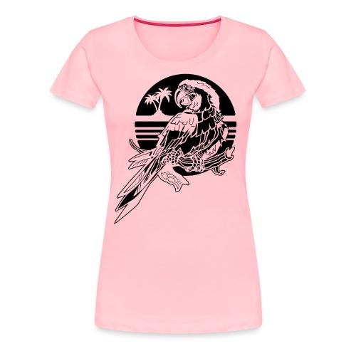Tropical Parrot - Women's Premium T-Shirt