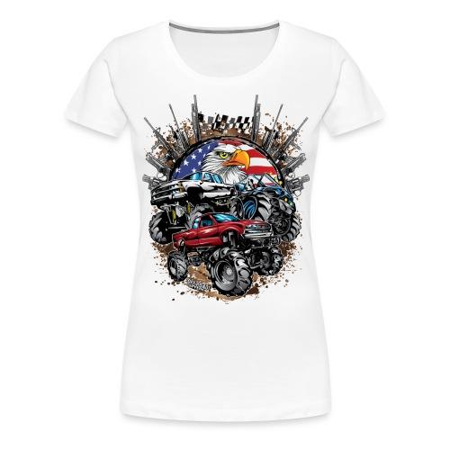 Mega Mud Trucks USA - Women's Premium T-Shirt