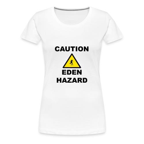 Caution Eden Hazard png - Women's Premium T-Shirt