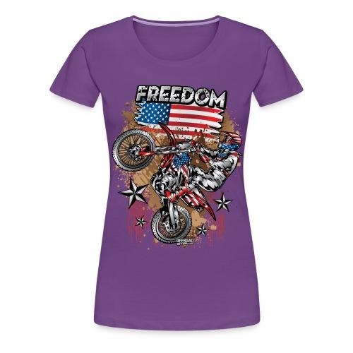 Motocross USA - Women's Premium T-Shirt