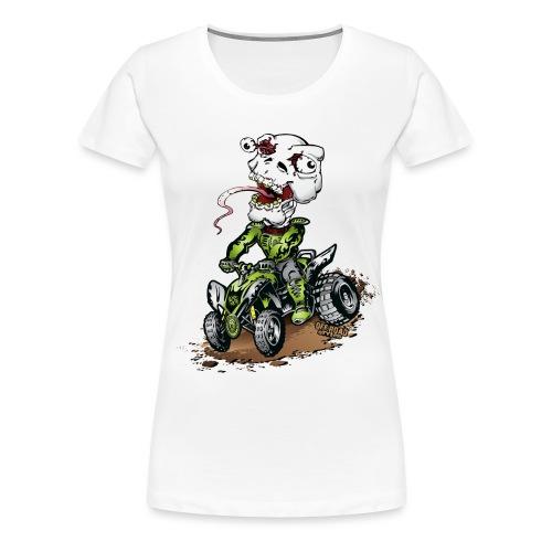 ATV Quad Crazy Skully - Women's Premium T-Shirt
