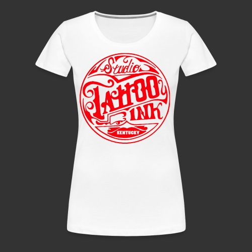theright oneSTUDIO INK LOGOred edited 3 png - Women's Premium T-Shirt