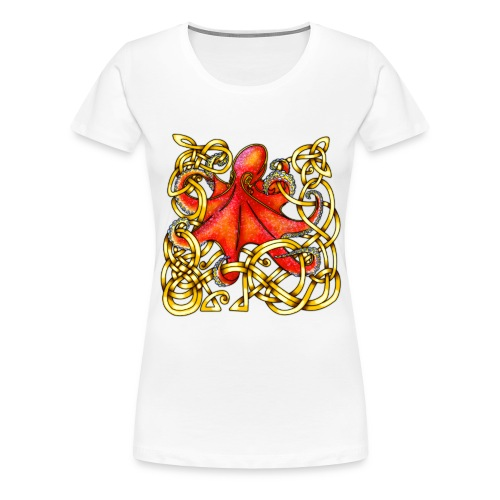 Octopus - Red & Gold - Women's Premium T-Shirt