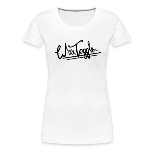 wax toggle black logo des - Women's Premium T-Shirt